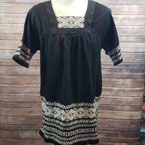 New TOPSHOP MOTO Denim Smock dress size 8